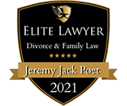 Badge for Elite Lawyer Jeremy Jack Poet | Divorce & Family Law 2021